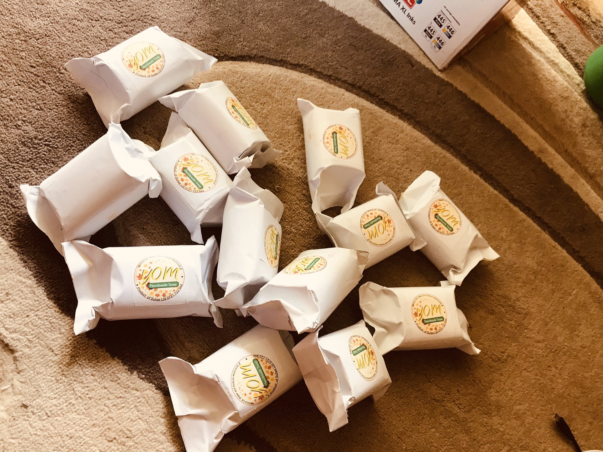 Handmade soaps received during the Covid-19 aid drive.